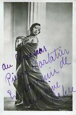 Joséphine BAKER EXCEPTIONNELLE PHOTOGRAPHIE sur carte avec AUTOGRAPHE 39-45