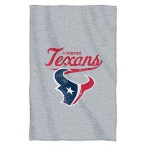 Houston Texans Logo Sweatshirt Material Poly/Cotton Throw Blanket