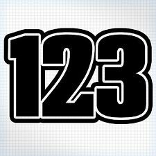 3 x Custom MX Race Numbers - Bike / Kart / Quad / Jet-Ski - Chubby Style