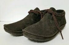 b2638628e44ad8 Vialis Brown Leather Suede Moccasins Lace Casual Hippie Boho 36 US 6