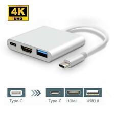 Type C USB 3.1 to USB-C 4K HDMI USB 3.0 Adapter 3 in 1 Hub for Macbook HDTV