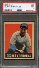 "1948 Leaf GEORGE ""SNUFFY"" STIRNWEISS #95 New York Yankees - PSA 7"
