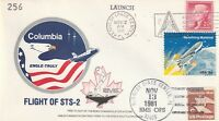 12/13 NOVEMBER 1981 SPACE SHUTTLE CHALLENGER STS 2 COVER KENNEDY TORONTO CANCELS