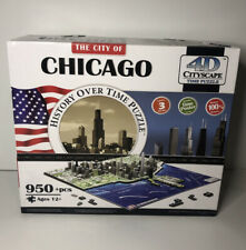 4D Cityscape Jigsaw/Time Puzzle - City of Chicago History Over Time Puzzle