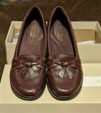 "Clark's ""Ashland Bubble"" Burgundy Leather Loafer Size 6.5M"