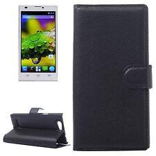 Custodia leather case NERO con supporto e funzione portafoglio per ZTE Blade L2
