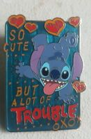 Disney DLR/WDW Stitch So Cute But a Lot of Trouble AP version Pin 128127