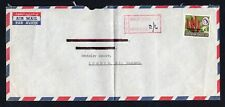 Rhodesia 1965 UDI Airmail Letter to London 2/6d INVALID STAMPS USED cachet