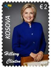 Kosovo Stamps 2019. 20th Ann. Freedom. HILLARY CLINTON: USA First lady. Set MNH
