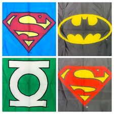 "Set Of 4 Dc Comics Fabric Banners Flags 30"" x 40"" Superman Batman Green Lantern"