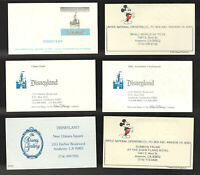 Disney DIsneyland Vintage Business Cards You Pick from 6