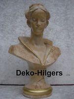 Büste Daria Kopf Figur Frau Stuckgips Skulptur Deko Säule Statue marmor op 2028