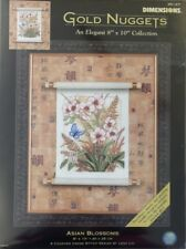 "DIMENSIONS GOLD NUGGETS ""ASIAN BLOSSOMS"" COUNTED CROSS STITCH KIT #35127"