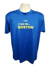 NYRR New York Road Runners I Run for Boston Adult Small Blue Jersey
