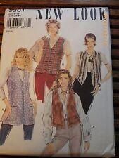 Vintage UNCUT New Look Pattern 8-18 Vest 6301 SEWING OOP