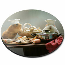 Round Mouse Mat - Adorable Chef Guinea Pig Pet Office Gift #3857