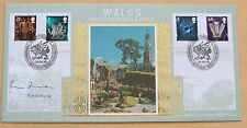 WALES PICTORIALS 1999 BENHAM FDC MINFFORDD H/S SIGNED BY POLITICIAN RON DAVIES