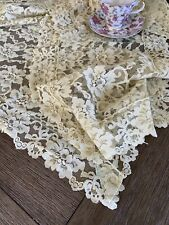 Vintage Green Floral Lace Runner And Doily Set Of Three Pieces 🌺