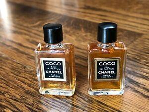 LOT 2 Vintage Coco chanel mini Eau de Parfum perfume 80s 90s 4ml New Old Stock