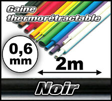 GTN0.6/2# Gaine thermo 0,6 mm 2m --- ratio 1/2  gaine thermorétractable noir