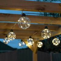 Battery Power LED Outdoor Firefly Festoon Lights | Garden Globe Party Home Decor