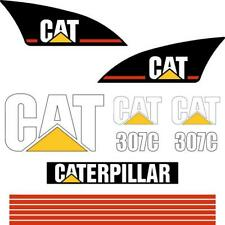 CAT 307C Decals Stickers - repro excavator decal kit, Early Model