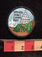 Vtg 1980 GOSHEN CAMPS BSA Boy Scout Patch - Capitol Building 77E2