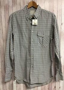 NEW with Tags BILLY REID Harris Shirt Grey Blue Brown Check Size M
