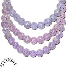 STARDUST GLASS BEADS ROUND 5-6mm ALEXANDRITE color changing 16 inch strand