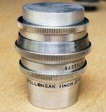 wollensak lens 1 inch cine raptor f.1.8