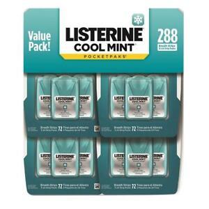 Listerine Cool Mint Pocketpaks Breath Strips -288 Count FREE WORLDWIDE SHIP! NEW