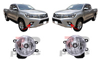 FOR TOYOTA HILUX(N120)16-18 NEW FRONT BUMPER FOG LIGHT LAMP WITH FRAME PAIR SET