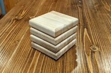 Handmade butcher block coasters hard maple hardwood wood custom barware