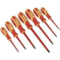 SEALEY S0756 ELECTRICAL SCREWDRIVER SET GS APPROVED VDE PHILLPS FLAT