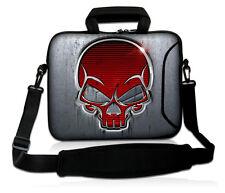 """Skull Laptop Shoulder Sleeve Bag Case+Handle For 13"""" 13.3"""" Apple Macbook Pro,Air"""