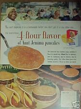 1954 Aunt Jemima Pancakes Black Americana~Kitchen Food Hot Dogs Print Ad