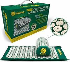 NAYOYA Back and Neck Pain Relief Acupressure Mat and Neck Pillow Set Mothers Day
