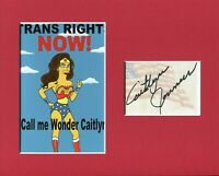 Caitlyn Jenner The Simpsons Olympic Decathlon Signed Autograph Photo Display