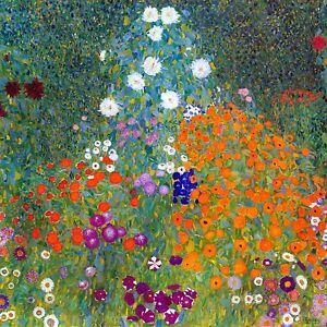garden flowers by Gustav Klimt Tile Mural Kitchen Wall Backsplash Marble Ceramic
