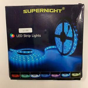Supernight LED Strip Lights Blue Waterproof 300 LED 5M/ 16.4 ft 100V-240V AC