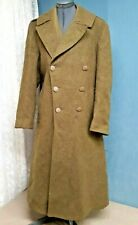 WW2 U.S. Army Wool Melton OD Overcoat 1942 38R Exc Cond Brass/Plastic Buttons