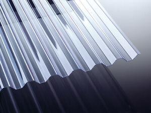 Lichtplatte Trapez PVC - klar / farblos 70/18 1,4mm Wellplatten Spundwandplatten