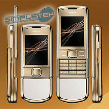 Nokia 8800 Arte Gold White (Unlocked) Cellular Phone New, nuovo con accessori