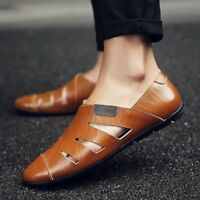 Mens Summer Slip On Hollow out Breathe Loafers Shoes Driving Moccasins Plus Size