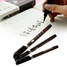 3pcs Black Calligraphy Chinese Brush Pen Writing Instruments Painting Student