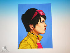 Jubilee Mondo Mike Mitchell Portrait Print Marvel Comics X-Men Rare Giclee Proof