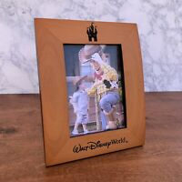 NEW Disney Parks Walt Disney World PICTURE FRAME 5 x 7 Wood Carved Disney Castle