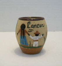 Vintage Mexican Pottery CANCUN Toothpick Holder