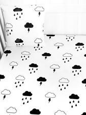 Tobias & the Bear- Storm Boy- modern kids baby Monochrome COTBED fitted sheet