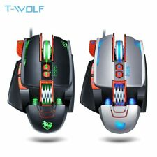 Gamer Gaming Mouse USB Wired Macro Programmable 3200D F/S Custom 8 Button Mice